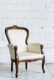 White Retro Chair Royalty Free Stock Photo