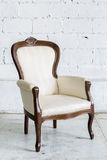 White Retro Chair Stock Photography
