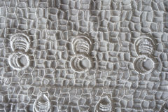 White retro styled fabric with lacy pattern Royalty Free Stock Photo
