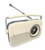 White retro transistor radio Royalty Free Stock Photo