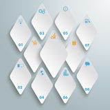 White Rhombus Pieces 8 Options PiAd Stock Image