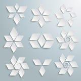 White Rhombus Set PiAd Stock Photos