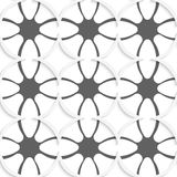 White rhombuses on gray ornament Stock Photos