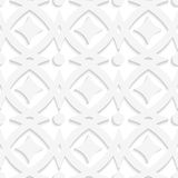 White rhombuses and white ornament Stock Photography