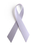 White Ribbon AIDS. Isolated white Ribbon — symbol for solidarity with people living with AIDS Stock Image