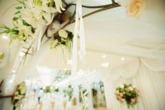 White Ribbon on Arch Royalty Free Stock Photo