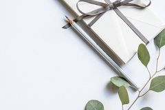 White, Ribbon, Arts, Craft, Leaves Royalty Free Stock Photography