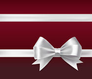 White ribbon bow Stock Images