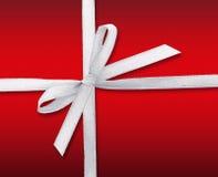 White ribbon bow Stock Photos