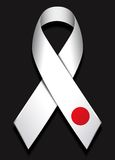 White ribbon for japan Royalty Free Stock Photo