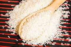 The white rice Royalty Free Stock Photo