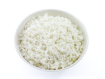 White Rice; 2 of 2. White rice in a bowl with white background (top view version Stock Image