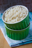 White rice. In green bowl Royalty Free Stock Photography