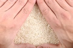 White rice background Stock Photography