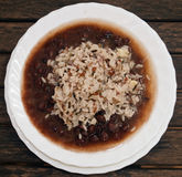 White rice with beans Stock Images