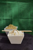 White rice in bowl with chopsticks Royalty Free Stock Photography