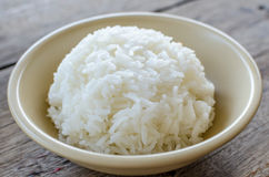 White rice in bowl Royalty Free Stock Images