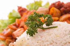 White rice with devil Royalty Free Stock Images