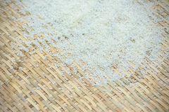 White rice. Grain rice in spoon Royalty Free Stock Images