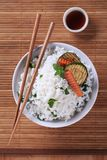 White rice and grilled zucchini Royalty Free Stock Images