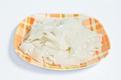 White rice noodles on dish Royalty Free Stock Photos