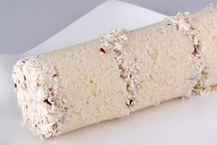 White rice Puttu. South Indian and Sri Lankan breakfast dish of steamed rice layered with coconut. Puttu is served with side dishes such as palm sugar or Stock Photography