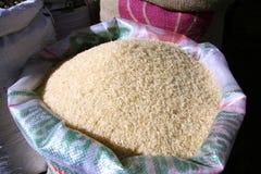 White rice in sack Royalty Free Stock Photo