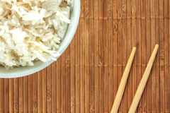 White rice. Some white chinese rice on a bowl stock photo