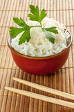 White rice. Some white chinese rice on a bowl stock photography