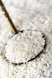 White Rice on Spoon Royalty Free Stock Images