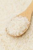 White rice on teaspoon Royalty Free Stock Image