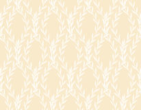 White Rich Floral Seamless Pattern from Leaves Stock Photo