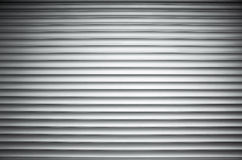 White ridged metal wall background texture. With vignette shadow effect Stock Photos