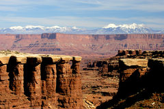 White Rim Canyon Stock Photography