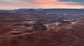 White rim of Canyonlands from Green River overlook Royalty Free Stock Photo