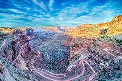 White rim road - park Utah Royalty Free Stock Images