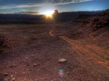 White Rim Trail at sunset Royalty Free Stock Photos