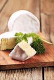 White rind cheese Royalty Free Stock Photos
