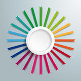 White Ring Colored Flags Royalty Free Stock Photography