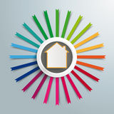 White Ring With House Colored Flags Stock Image