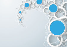 White Rings Blue Circles Dust Royalty Free Stock Photo