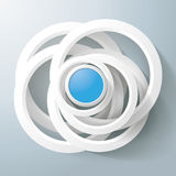 White Rings Blue Circles Magic Centre Royalty Free Stock Images