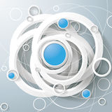 White Rings Blue Circles Magic Triangle Centre Royalty Free Stock Photo