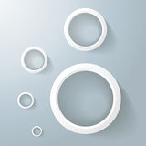 White Rings Golden Ration Royalty Free Stock Photo
