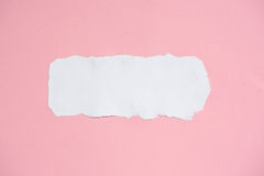 White ripped and pink paper for texture background Royalty Free Stock Photo