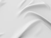 White rippled silk fabric abstract background Royalty Free Stock Photography