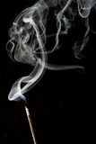 White rising smoke. From aromatic stick royalty free stock photography