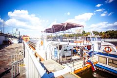 White River cruise boat on Moscow river Stock Images
