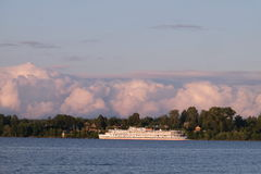 White river cruise boat Royalty Free Stock Images