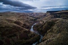 White River faller Oregon Arkivfoton